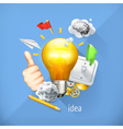 Idea concept business brainstorming Set i vector image