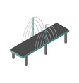 isometric bridge icon 3d isolated drawing vector image