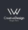 letter vw creative business modern logo vector image vector image