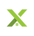 letter x and house logo concept logo template vector image