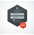 login form page vector image vector image
