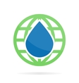 logo or icon combination of water and earth vector image vector image