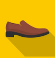 men shoe icon flat vector image