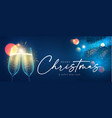 merry christmas and happy new 2021 year background vector image