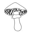 Mushroom graphic drawing vector image vector image