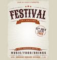 music festival grunge poster vector image vector image