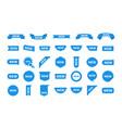new sticker set labels vector image vector image