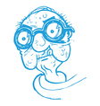 Old Man with Thick Glasses vector image vector image