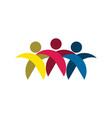 people friends team group teamwork logo vector image