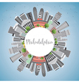 Philadelphia Skyline with Gray Buildings vector image vector image