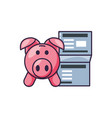piggy bank with document vector image