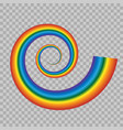 rainbow icon isolated on transparent background vector image vector image