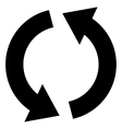 Recycle Flat Icon vector image vector image