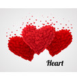 red valentine heart isolated on bright background vector image