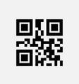 sample qr code for smartphone scanning icon vector image vector image