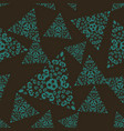 seamless pattern tile with triangle mandalas vector image vector image
