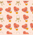 seamless pattern with hear vector image vector image