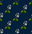 seamless pattern with lewis mock-orange vector image vector image