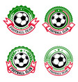 set of colorful football club emblems soccer club vector image vector image