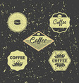 set of vintage retro grunge coffee badges and vector image vector image