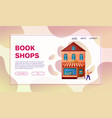 shops facades flat colorful vector image vector image