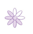 silhouette natural flower plant with petals vector image