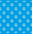 social pattern seamless blue vector image vector image