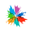 Splash burst color paints vector image