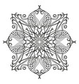 square ornamental mandala isolated design element vector image vector image