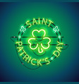 st patricks day neon sign vector image vector image