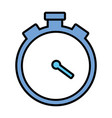 stopwatch time icon vector image vector image
