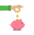 the man put money into a money box d vector image vector image