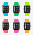 Trendy Colorful Icons Set of Smart Watch with vector image