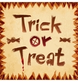 Trick or treat design paper background vector image vector image