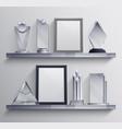 trophies shelves set vector image