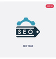 two color seo tags icon from programming concept vector image vector image