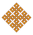 viking decorative knot - engraved gold vector image vector image