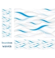 Wavy seamless pattern design vector image