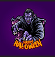 zombie dracula witchcraft happy halloween vector image vector image