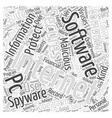 zone alarm internet security Word Cloud Concept vector image vector image