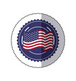 symbol american flag sign icon vector image