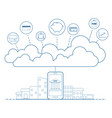 mobile banking concept with cloud technology vector image