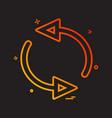 arrow circle l rotate icon design vector image