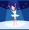 ballerina woman dancing ballet stage background vector image
