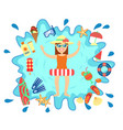beach summer splash fun concept vector image vector image