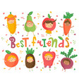best fruit friends vector image