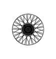 Black spoke wheel