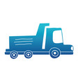 blue silhouette dump truck industry and vector image