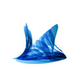 blue snail in technology style on white vector image vector image