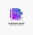 brand company identity letter presentation purple vector image